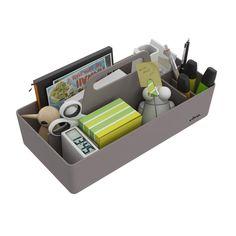 Vitra Toolbox opberger, geschikt om te gebruiken in de kantoortuin als er geen vaste werkplek is als alternatief op het ladeblok