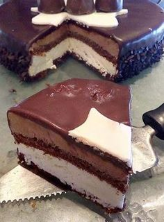 Greek Recipes, Desert Recipes, Guinness Chocolate, Greek Sweets, Cream Cheese Recipes, Food Cravings, Cakes And More, Chocolate Cake, Cake Decorating