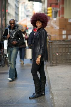 I think I've seen her on the street.  Love her hair.