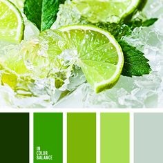 Extremely fresh palette, like a breath of refreshing ice-cold cocktail. All kinds of bright greens call for expression of joie de vivre, energy, temperament, give inspiration to creativity. Surprisingly lifeblood green. Such a uniform gamma absolutely looks great in any room. Suitable for both home and for the office interior.
