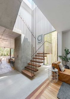 If we talk about the staircase design, it will be very interesting. One of the staircase design which is cool and awesome is a floating staircase. This kind of staircase is a unique staircase because Floating Staircase, Modern Staircase, Staircase Design, Staircase Ideas, Stair Design, Decorating Staircase, Handrail Ideas, Craftsman Staircase, Staircase Makeover