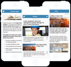 Eyo EmployeeApp is a mobile app and web interface for employee communications. Company News, Wind Turbine, Mobile App, Geek, Mobile Applications, Geeks