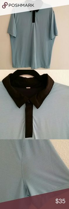 "🔵⭕LULULEMON COLLARED SHIRT ⭕🔵 In pre loved conditions.  Blue and black. It doesn't have a size tag. Armpit to armpit is about 23"" laying flat. About 30""  from shoulder down . It  looks like XL.  Minimal snags .  See pics. Feel free to ask questions.   🔴 I DO NOT TRADE lululemon athletica Shirts"