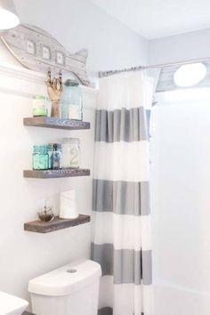 Seaside Inspired Bathroom - Nautical Bathroom   Housebeautiful