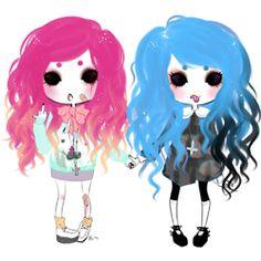 pastel goth + super goth