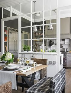 Image result for barrier between kitchen and living