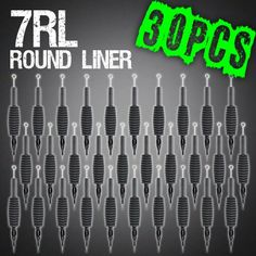 Z ZTDM 30pcs 7RL Round Liner Disposable Tattoo Needle 34 Grip Tube Tip Sterilized * You can find more details by visiting the image link. Note:It is Affiliate Link to Amazon.