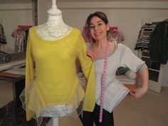 Upcycle top add side bustles -  Chanel style