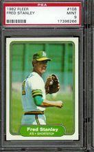 1982 Fleer Baseball #108 Fred Stanley PSA 9 A's