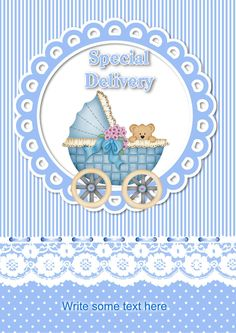 Check out It's a Boy made in the Craftsuprint Downloadable Card Creator
