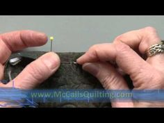 Quilt Binding 4 of 4: Turning & Hand Stitching - YouTube