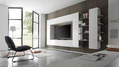 Het design TV wandmeubel bestaat uit vier elementen die je los van elkaar of in combinatie kunt monteren. Alle elementen dienen aan de muur bevestigd te worden waardoor je lege muur in je woonkamer mooi is opgevuld. De boekenkast van het Italiaans TV wandmeubel is aan de buitenkant afgewerkt met hoogglans witte polyester lak en voorzien van matt beige planken. Je kunt het design TV meubel zelf indelen door te spelen met de lossen elementen en deze te monteren zoals jij dat wilt.