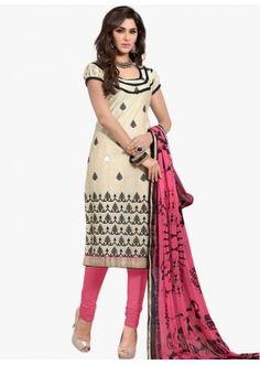 Casual Wear Off White Salwar Suit - FD170-189