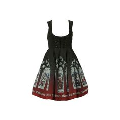 Stained Glass Print Satin JSK :: Moi-même-Moitié ❤ liked on Polyvore featuring dresses, jsk, lolita and lolita jsk