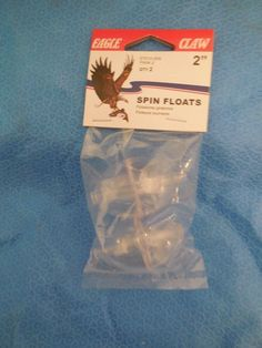 """2"""" Eagle Claw Spin Float Clear Egg Shape - 12 Packages - 24 Total    eBay"""