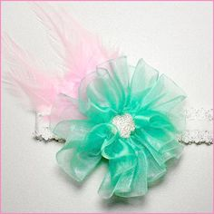 Gather your crafting supplies and join us for some fun on the blog! Chic Organza Hair Flower