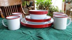Enamelware...becoming a staple in any and all homes, regardless of style.  Be sure to visit http://www.crowcanyonhome.com for more!!