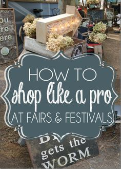 Great tips for scoring deals at vendor booths, how to haggle and barter, how to scour a festival from top to bottom to find the best items, all while not killing your pocketbook in the process. A MUST READ for any thrift shopper.