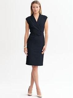Sleek suit belted dress from Republic Work Fashion, Daily Fashion, Dress Fashion, Dress Images, Work Wardrobe, Wardrobe Ideas, Dress Suits, Work Attire, Belted Dress