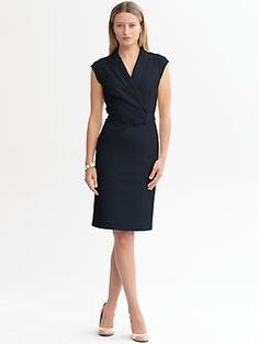 Sleek suit belted dress | Banana Republic  @Denise Ellmer Kavovit, I saw this dress at work and thought it had you written all over it!  :)