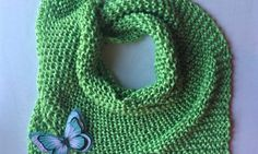 Spring scarf pattern (Green I want you green !