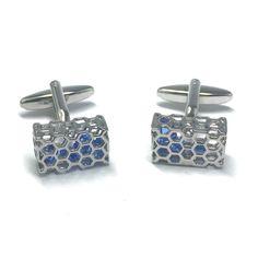 Blue Crystals in HoneyComb Case Cufflinks! #cufflink #cufflinks #mensfashion #mensaccessories #menstyle #groomsmencuffs #groomsmencufflinks #dappermen #menfashion #dapperstyle #menswear #menstyle #dapper #stylishmen #mensweardaily #menwithclass #menswearjournal #highsociety #businesswear #fashionformen #zalorasg #instastyle #guyswithstyle #mensoutfit #gentlemanstyle #mensfashionblog #mensfashionpost #mensfashiontips #mensfashionreview #mensfashionfix #dapperman http://www.splicecufflinks.com