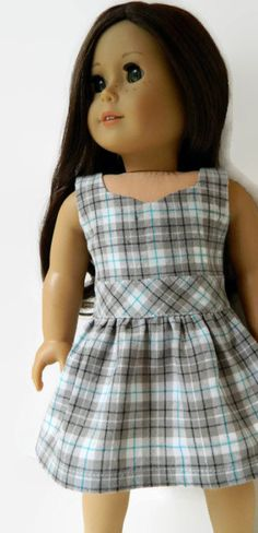 American Girl Doll Clothes Sweetheart Neckline by 18Boutique