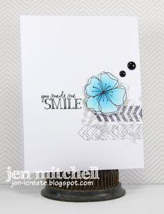 You Made Me Smile, CAS(E) This Sketch, Just Us Girls, Florileges Design, Impression Obsession, Precious Remembrance, Technique Tuesday, Verve, I Create