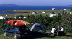Official site of the Magdalen Islands tourist association gives information on the archipelago situated in the heart of the St-Lawrence Quebec. Quebec, Camping For Beginners, Camping Store, St Lawrence, Camping With Kids, Archipelago, Lodges, Outdoor Gear, Tent