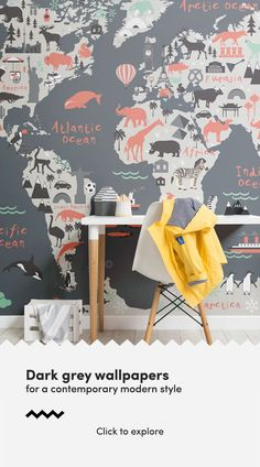 Instantly enhance a space with dark grey wallpaper murals, that will create an impactful feature wall in any room of your home. The dark grey tones of the murals create depth and dimention on a flat wall, and creates a space that is both more dramatic and tasteful. #darkgreywallpaper #greywallpaper #darkwallpaper #darkgreydecor #darkgreyinteriors #darkwallpaperdecor #darkhomeinteriors #greyhomedecor