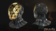 Deus Ex - Mankind Divided Helmets, KEOS MASONS - Marco Plouffe on ArtStation at https://www.artstation.com/artwork/6e6LN