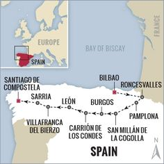 Spain hiking tour map, Boundless Journeys