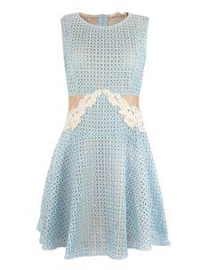 Vestido Lese Tule Guipir Jô Fashion