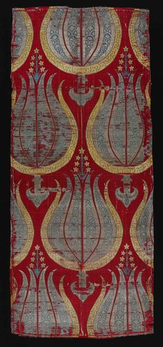 Silk with stylized tulips, Turkey, second half of 16th century