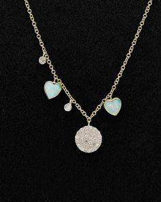 Meira T 14K 1.71 cttw. Diamond & Opal Necklace is on Rue. Shop it now.