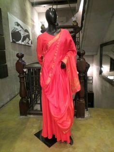 Banarasi Silk Drape Tunic is now available to be ordered at http://www.ekru.in/product/banarasi-silk-drape-tunic