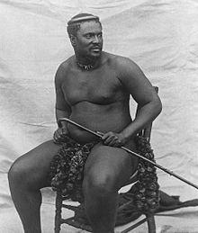 King Cetshwayo kaMpande leads the Zulu people during the Anglo-Zulu War