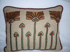 Arts &  Crafts pillow by ARTANTIQ, via Flickr