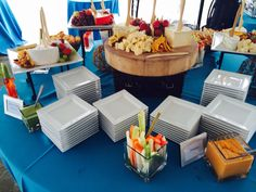 Cheese and crudités spread during cocktail hour at the San Diego Rowing Club/Garty Pavilion.
