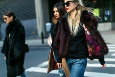 The Best Street Style from New York Fashion Week.  I love the fabric inside of the jacket.