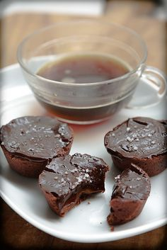 Chocolate-Caramels Tartlets by daveleb, via Flickr