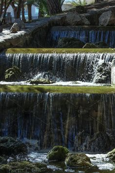 Waterfall in the Spanish Park. by Wonderful World on @creativemarket