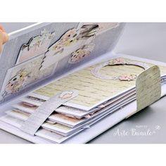 Diy Mini Album, Mini Albums Scrap, Mini Scrapbook Albums, Fun Fold Cards, Folded Cards, Tarjetas Pop Up, Handmade Envelopes, Photo Album Scrapbooking, Vintage Scrapbook