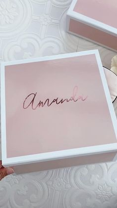 Bridesmaid Gift Boxes in a pretty blush pink are perfect for proposing or asking bridesmaids!  Fill them with cute things inside such a robe, sleep mask, pretty pen and more! Gifts For Wedding Party, Diy Wedding, Dream Wedding, Party Gifts, Wedding Gift Boxes, Wedding Souvenir, Diy Party, Diy Gifts, Wedding Favors