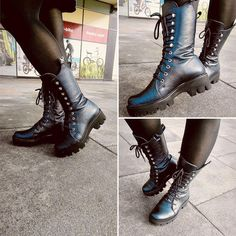 ghete piele imblanite Balenciaga, Combat Boots, Outfit, Casual, Blog, Shoes, Fashion, Outfits, Moda
