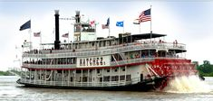 The iconic Steamboat Natchez. Built in 1975, she's the 9th Natchez to ply the Mississippi!