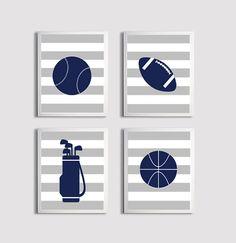 Definitely for baby boy https://www.etsy.com/listing/166519035/nursery-sports-football-basketball-golf