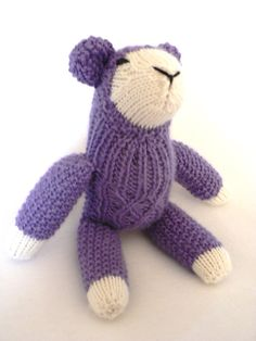 Handknit Lavender Lamb Toy by TailsandSnouts on Etsy, $34.00
