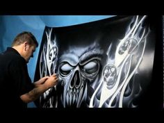 Clarion Trail Blazer - by Stuart Vimpani - Airbrush Artist from Australia - PaintingTube Air Brush Painting, Car Painting, Crane, Airbrush Skull, Skull Fire, Airbrush Designs, Custom Paint Jobs, Custom Cars, Japanese Dragon