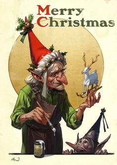 ArtStation - Christmas Toymaker, Dario Jelusic